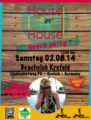 House is in the House beach party