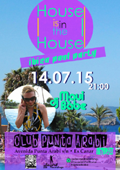 House is in the House Ibiza Pool Party @ Club Punta Arabi, Ibiza Spain